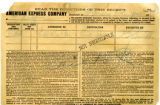 American Express Company receipt of G.W. Tresler, January 2, 1912