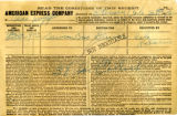 American Express Company receipt of Chas Walff, January 22, 1912