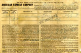 American Express Company receipt of Lida C. Truharl, January 25, 1912