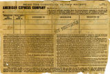 American Express Company receipt of G.M. Racer, January 21, 1912